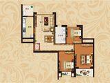 恒大翡翠华庭_3室1厅1卫 建面96平米