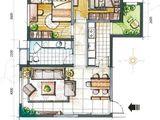 坤杰拉菲公馆_2室2厅1卫 建面99平米
