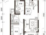 太原恒大城_2室2厅1卫 建面82平米