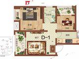 祝福红城_2室1厅1卫 建面68平米