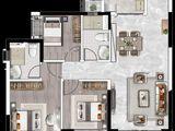 恒大悦珑台_3室2厅2卫 建面106平米
